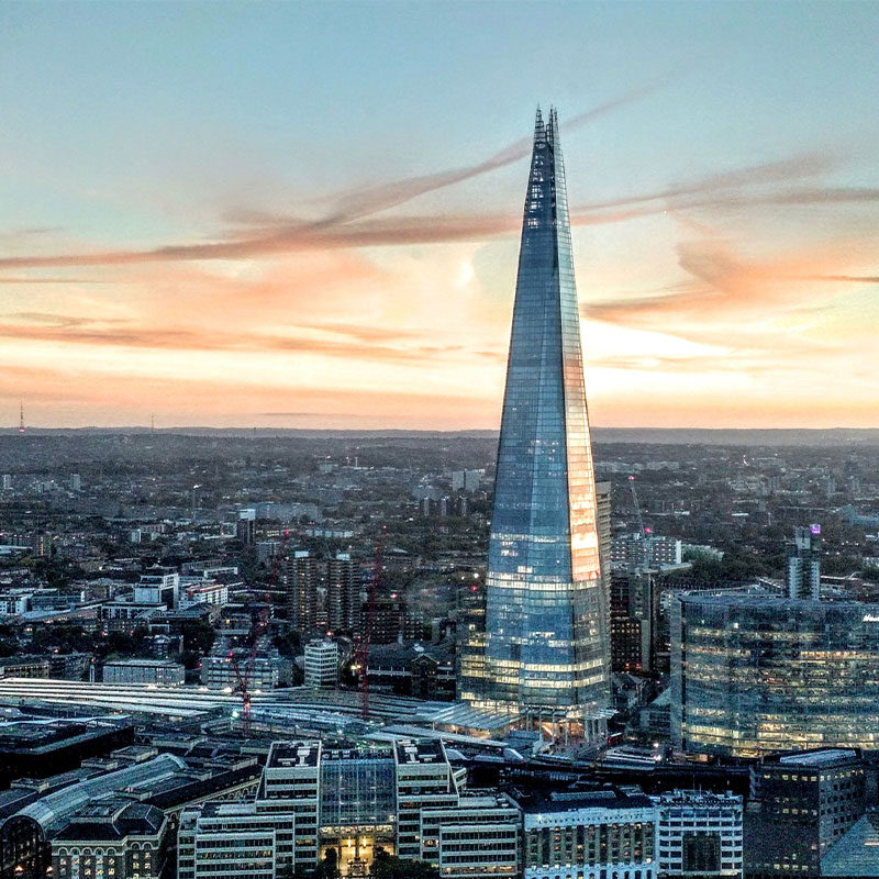 London skyline with Shard